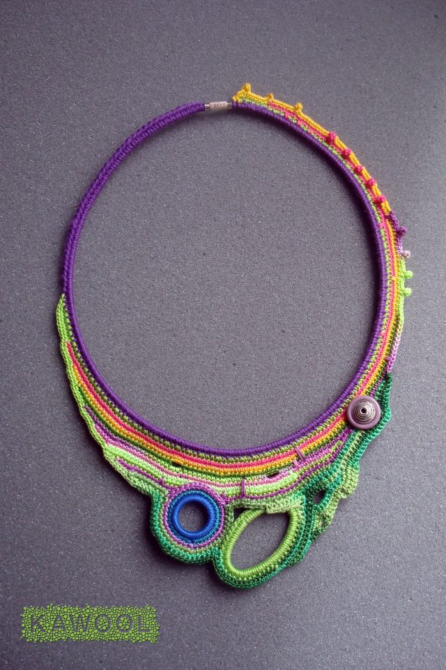 kawool crochet art jewelry