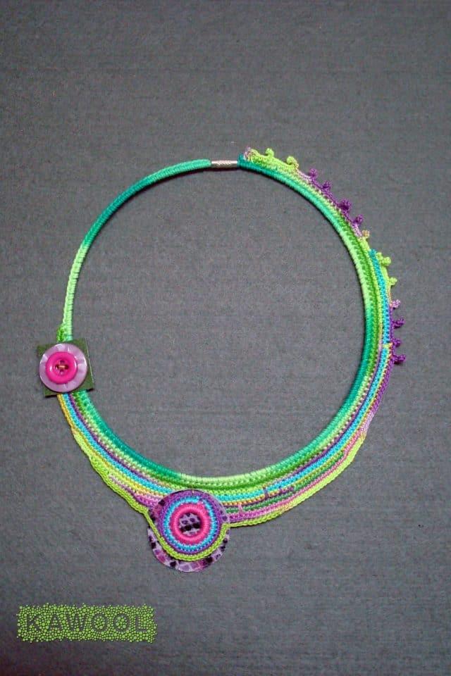 kawool crochet colar
