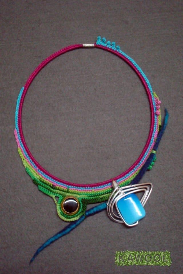kawool crochet fiber art