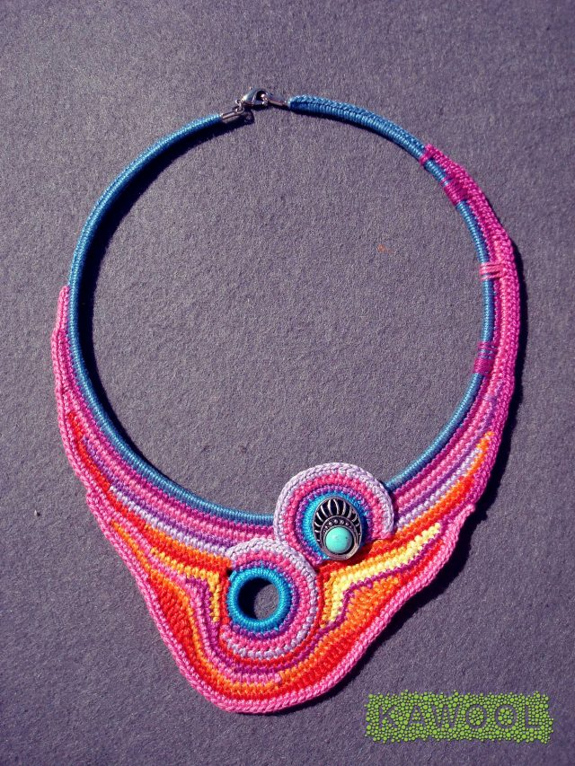 kawool crochet jewelry art