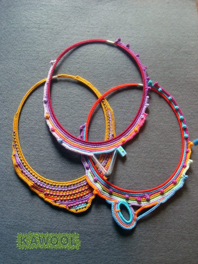 crochet necklaces by Kawool