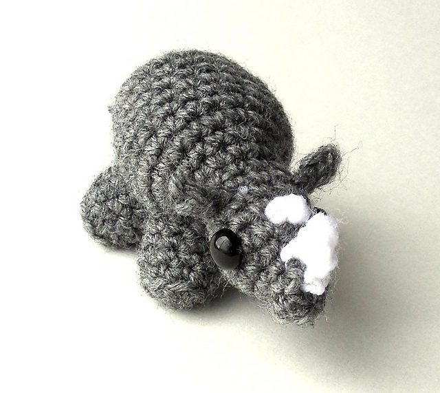mini rhino crochet pattern