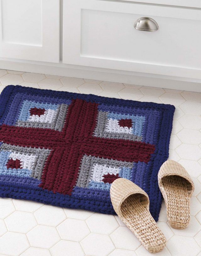 patchwork rug from retro rugs crochet book