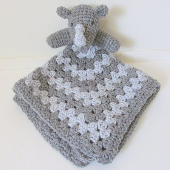 rhino lovey crochet pattern