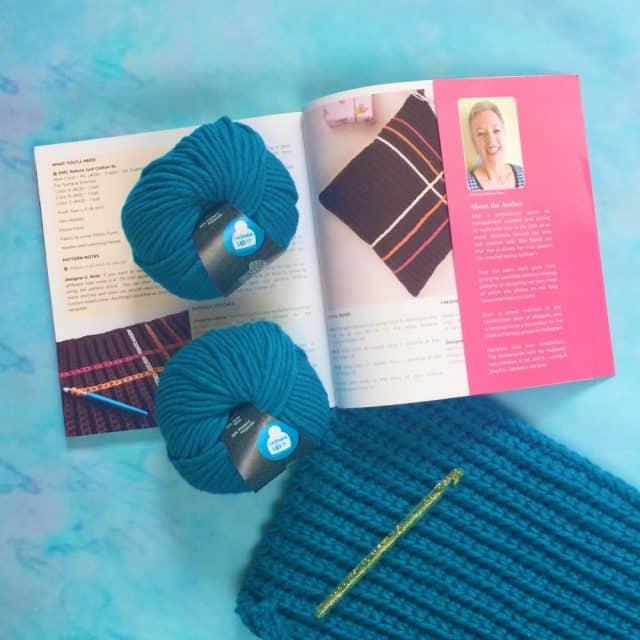 ribbed tartan cushion crochet project