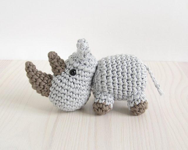 Endangered Animal Crochet: RHINO