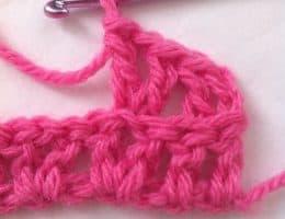 v-stitch blo crochet