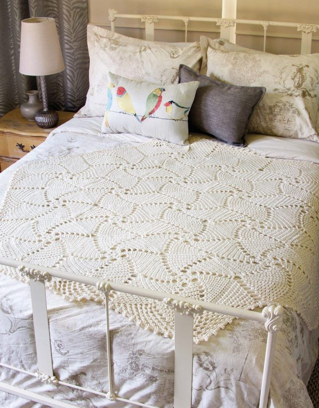 white doily afghan