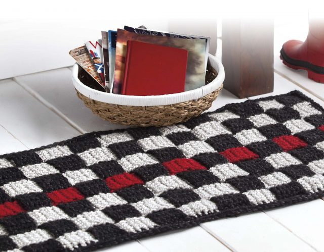 woven rug from retro rugs crochet book