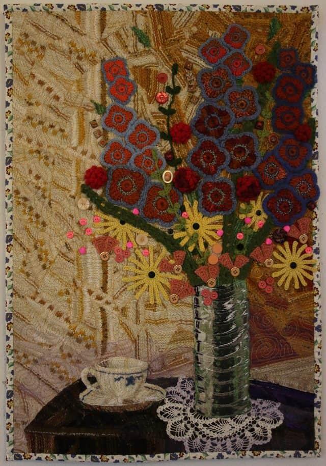 floral crochet art