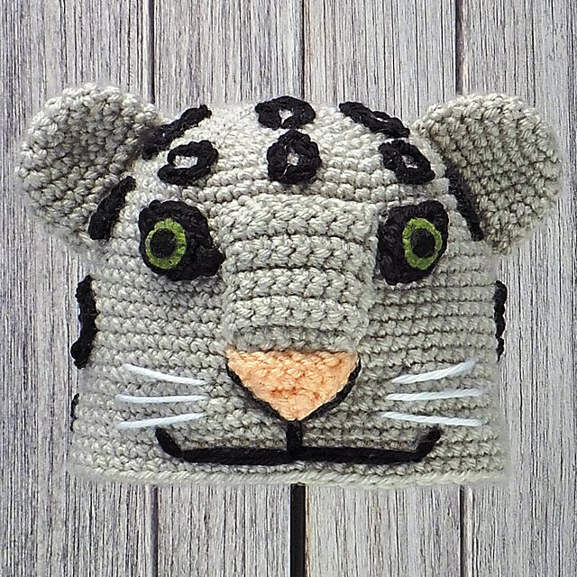 Snow Leopard Crochet Hat Patterns