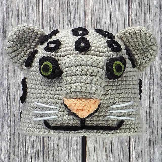 Snow Leopard Crochet Hat Patterns