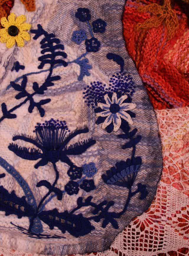 crochet art quilt detail