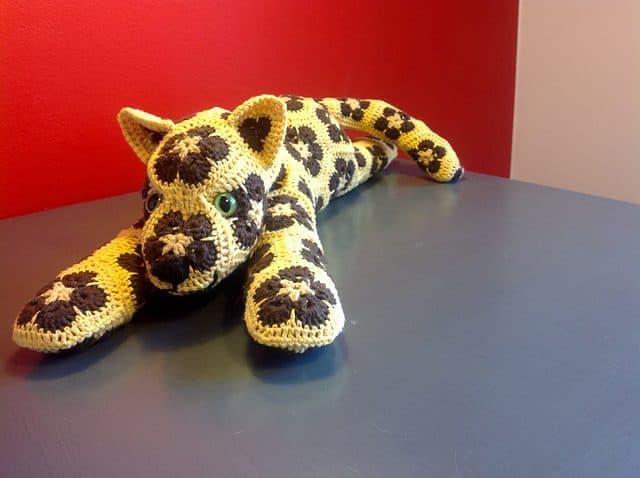 Crochet African Flower Animal Patterns : Endangered Animal Crochet: LEOPARD