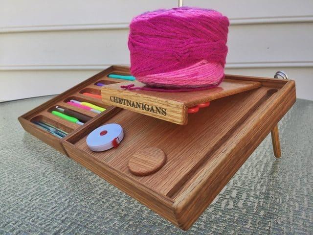 bedside crochet hooks organizer