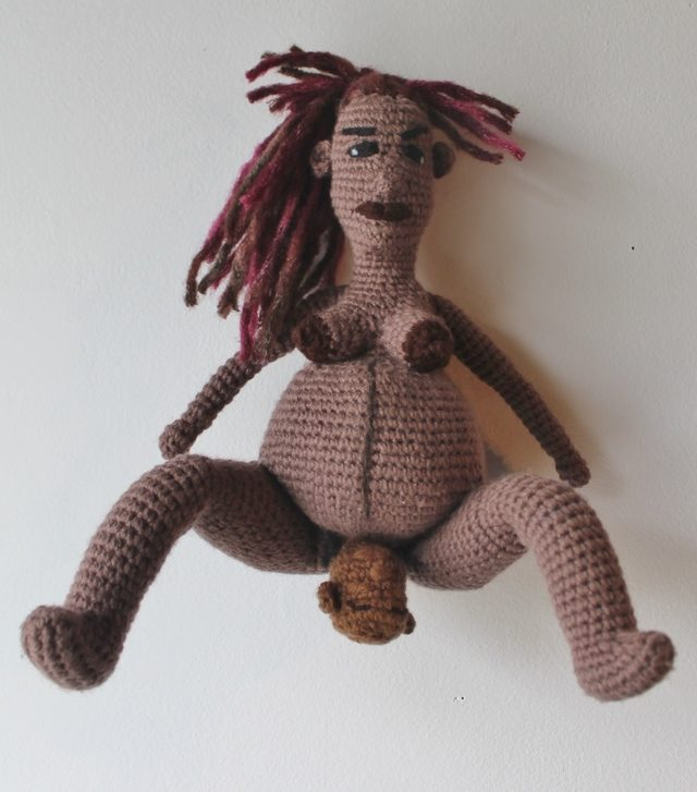 crochet doll for health awareness