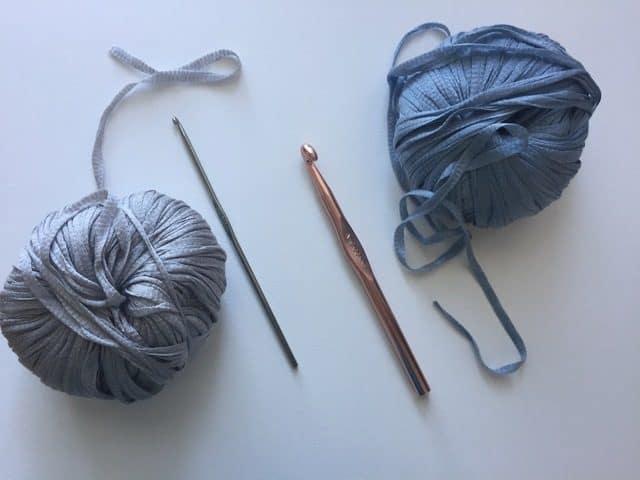 crochet hooks with yarn