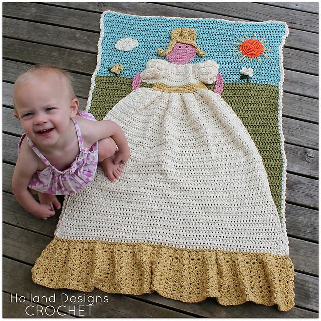 crochet princess blanket quilt pattern