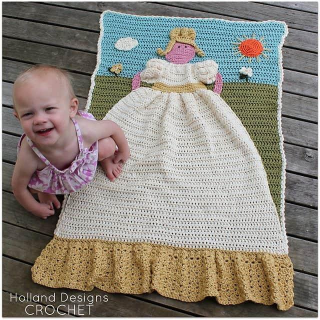 crochet princess blanket quilt pattern