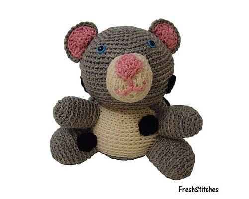 crochet snow leopard pattern
