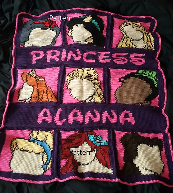 Princess Dress Crochet Blanket and Other Special Blanket ...