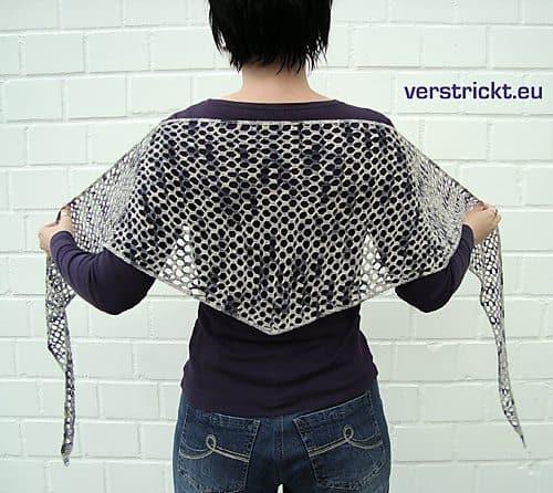 leaopard drukken geïnspireerd sjaal haakpatroon