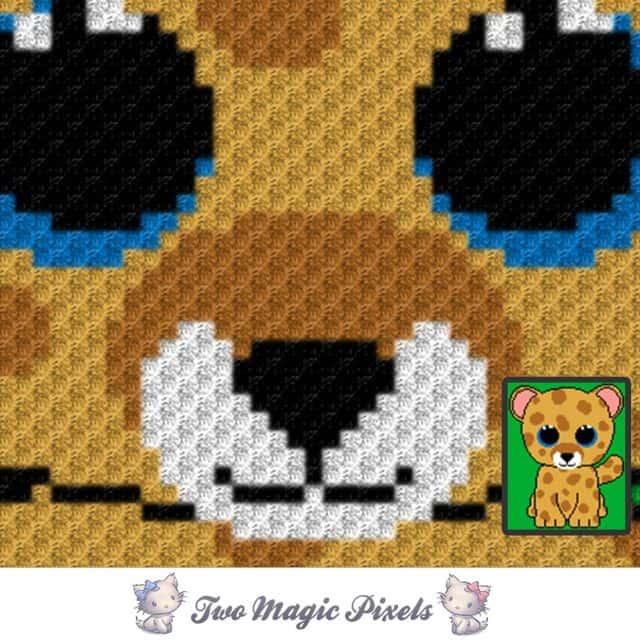 leopard c2c graphghan crochet pattern