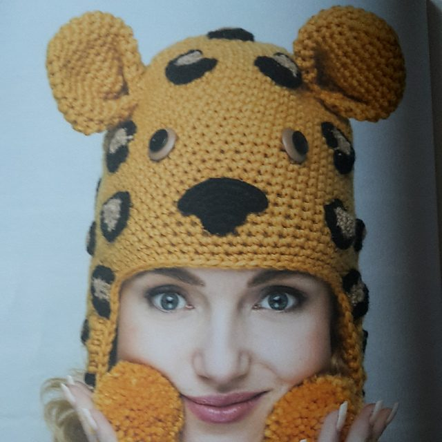 leopard crochet hat