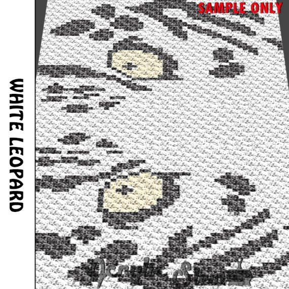 leopard face crochet graph
