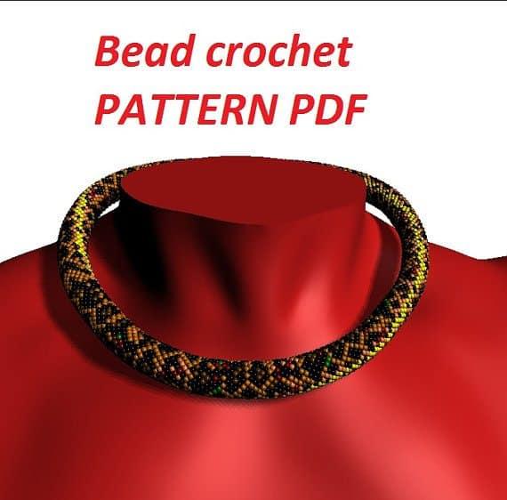leopard print bead crochet pattern