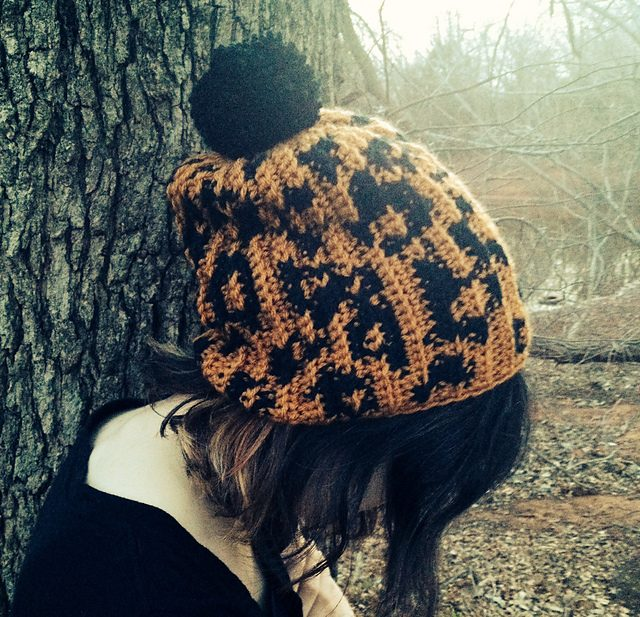 leopard print graph crochet pattern