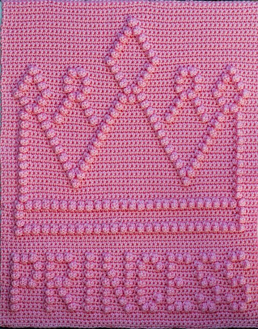 princess crown crochet blanket pattern
