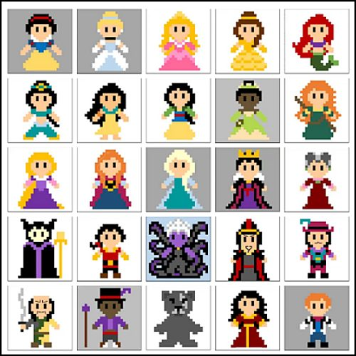 princesses and villains crochet blanket pattern