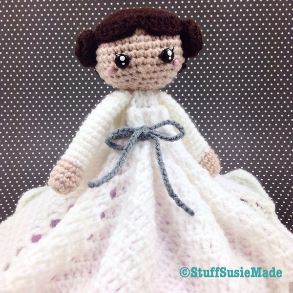 princess leia crochet lovey blanket free pattern
