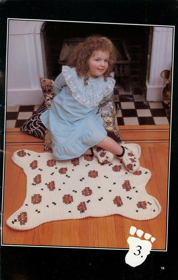 vintage leopard print rug
