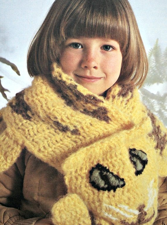vintage leopard scarf crochet pattern