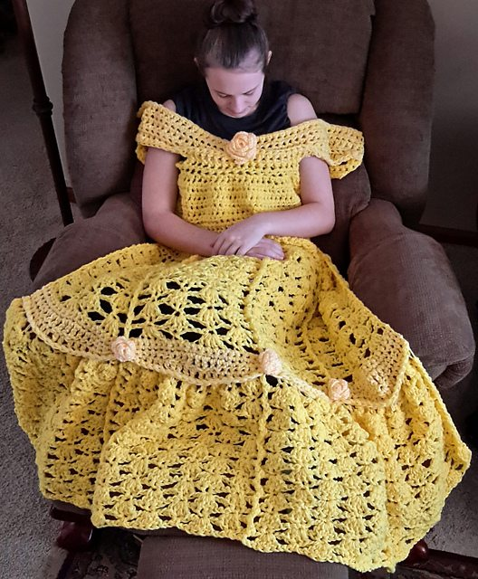 Princess Dress Crochet Blanket And Other Special Blanket