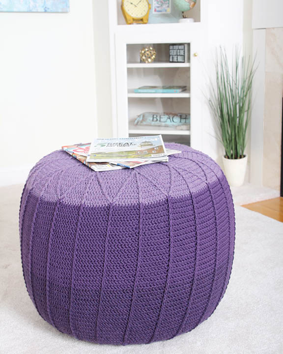 pouf from quick crochet for the home