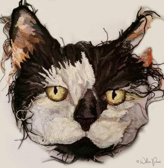crochet cat by Wilma Poot