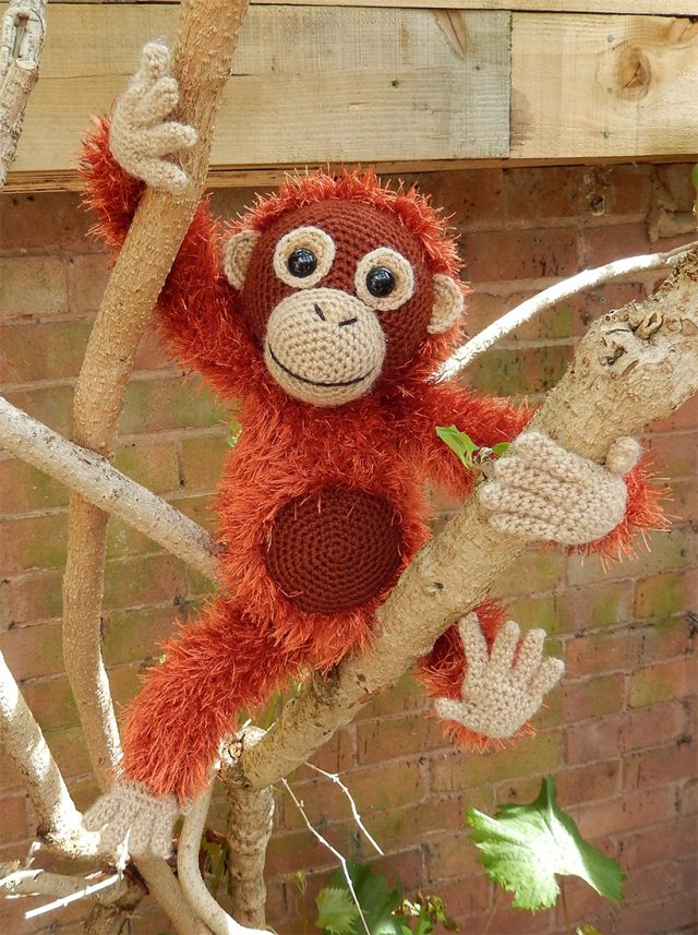 amigurumi orangutan crochet pattern