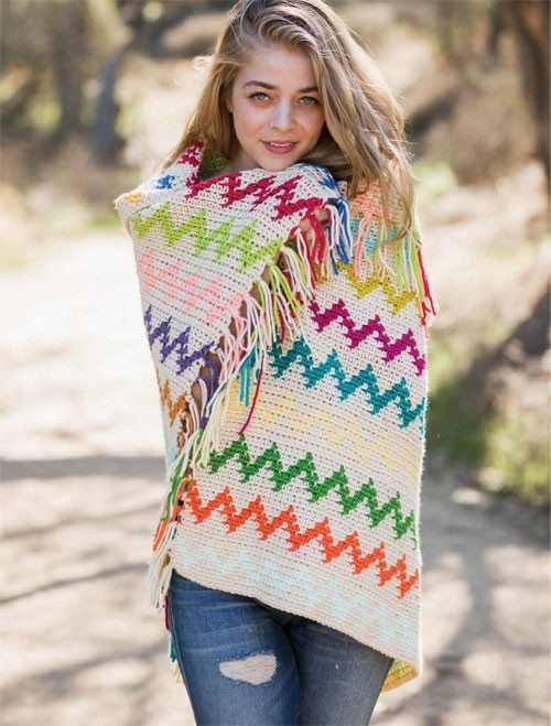 colorful tapestry crochet blanket by alessandra hayden