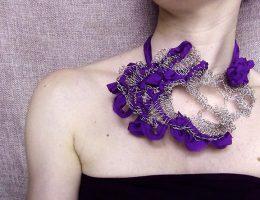 wearable crochet jewelry art