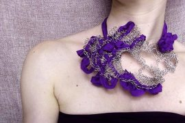 wearable crochet jewelry art