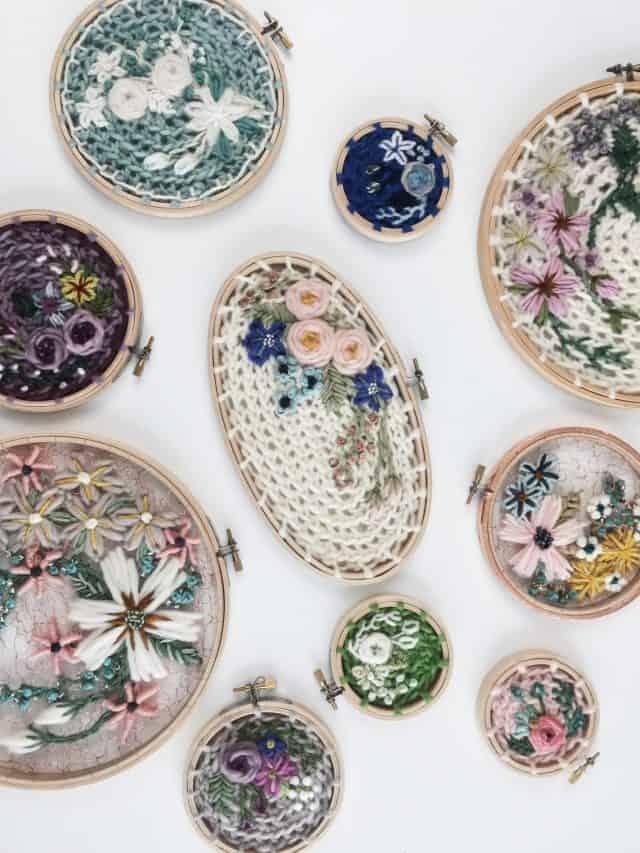 crewel ricamo crochet art