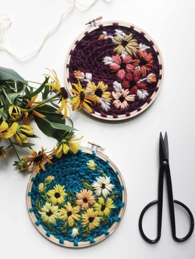 pedane wildflower crochet ricamo arte