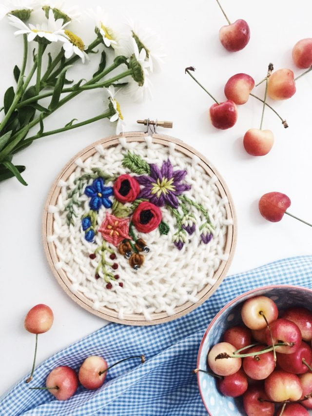 crochet ricamo cerchio arte