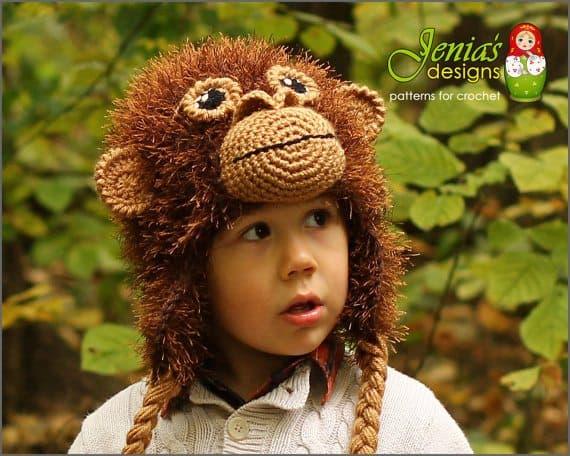 orangutan crochet animal hat pattern