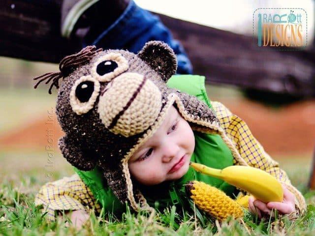 orangutan ape hat crochet pattern