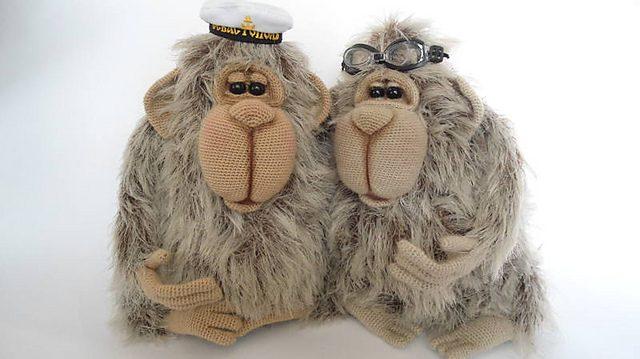 orangutan male crochet pattern