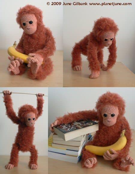 planet june crochet orangutan